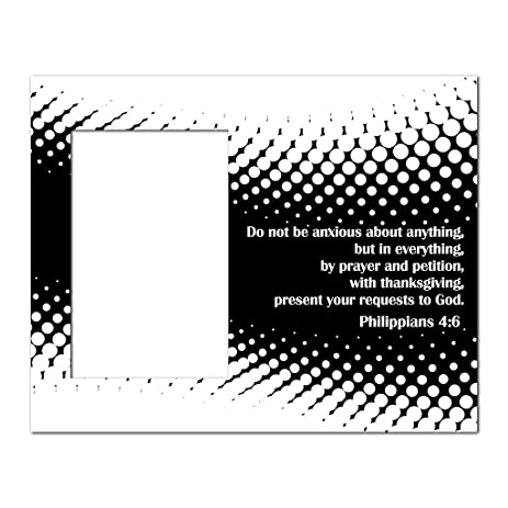 Amazon.com - Picture Frame - Christian Theme - Philippians 4:6 ...