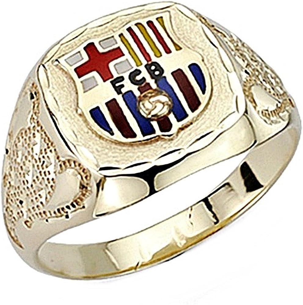 Sello escudo F.C. Barcelona oro de ley 18k tambor copa trofeo [7879] - Modelo: 10-136: Amazon.es: Joyería