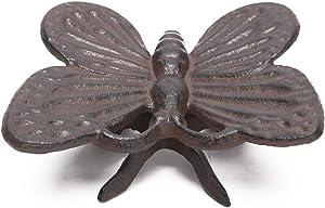 BRASSTAR Cast Iron Butterfly Statue Office Desk Decor Ornament Garden Art Spirit Animal Figurine Home Collectible Handmade Gifts PTWQ007