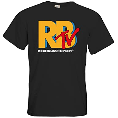 getshirts - Rocket Beans TV Official Merchandising - T-Shirt - RBTV Logo -  black