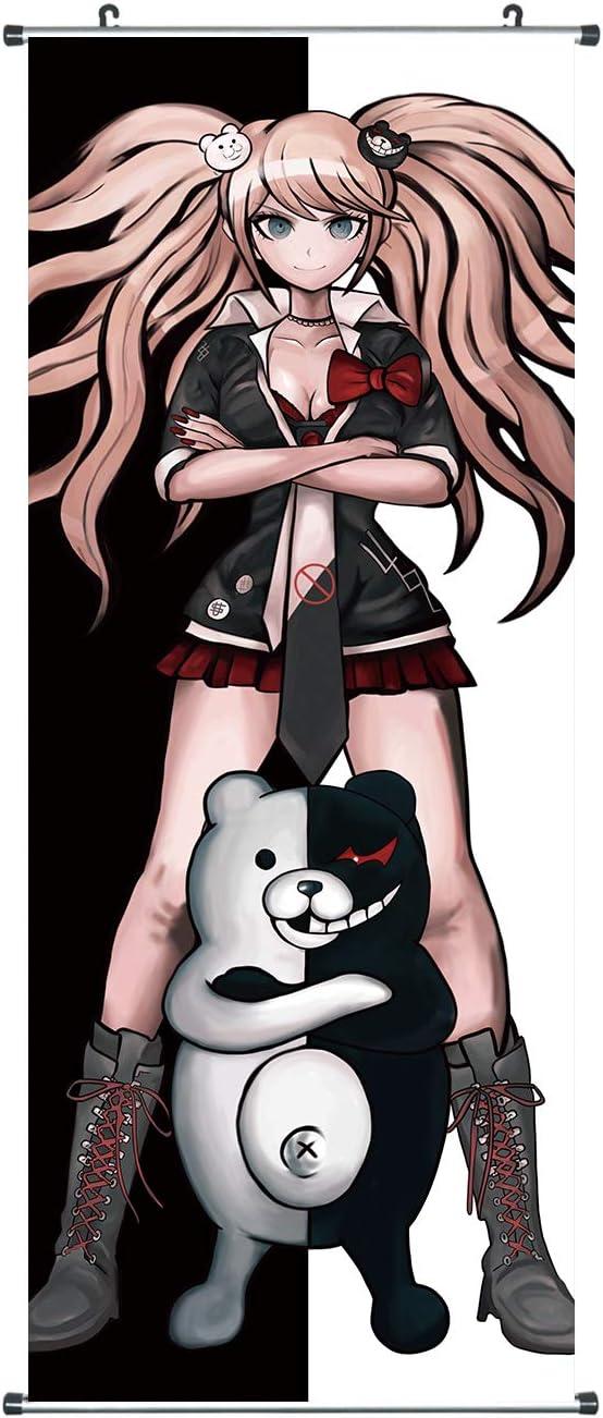 Motiv: Hopes Peak Academy Gro/ßes Dangan Ronpa Rollbild Poster 100x40cm Kakemono aus Stoff