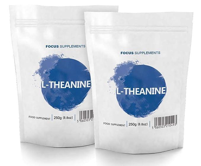 L-Teanina Polvo Puro de Focus Supplements Para la Concentración y la Reducción de Estrés | MEJORA EL ÁNIMO | De Origen Natural - Envasado en UK en ...