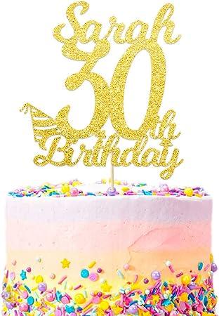 Super Edsg Personalised Happy 30Th Birthday Cake Topper Custom With Funny Birthday Cards Online Alyptdamsfinfo