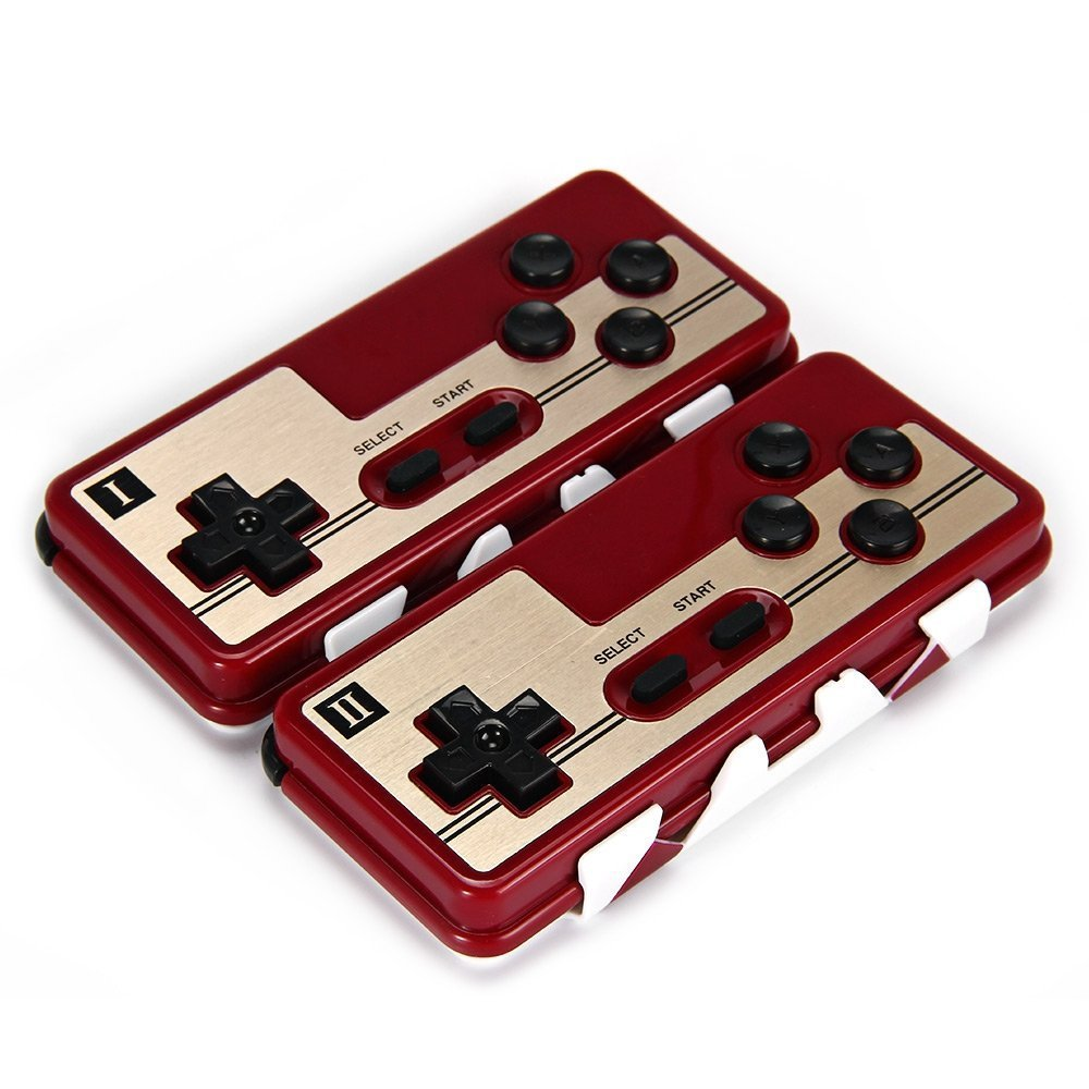 8Bitdo - 2 Set, FC30 Dual Player Wireless Bluetooth Controller Classic Joystick for iOS Android Gamepad PC Mac Linux inTell intell2016111603