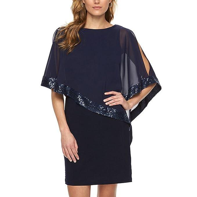 Amazon.com: Vestido de fiesta para mujer, cuello en V ...