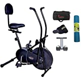 Lifeline Exercise Air Bike with Back Seat (Black)