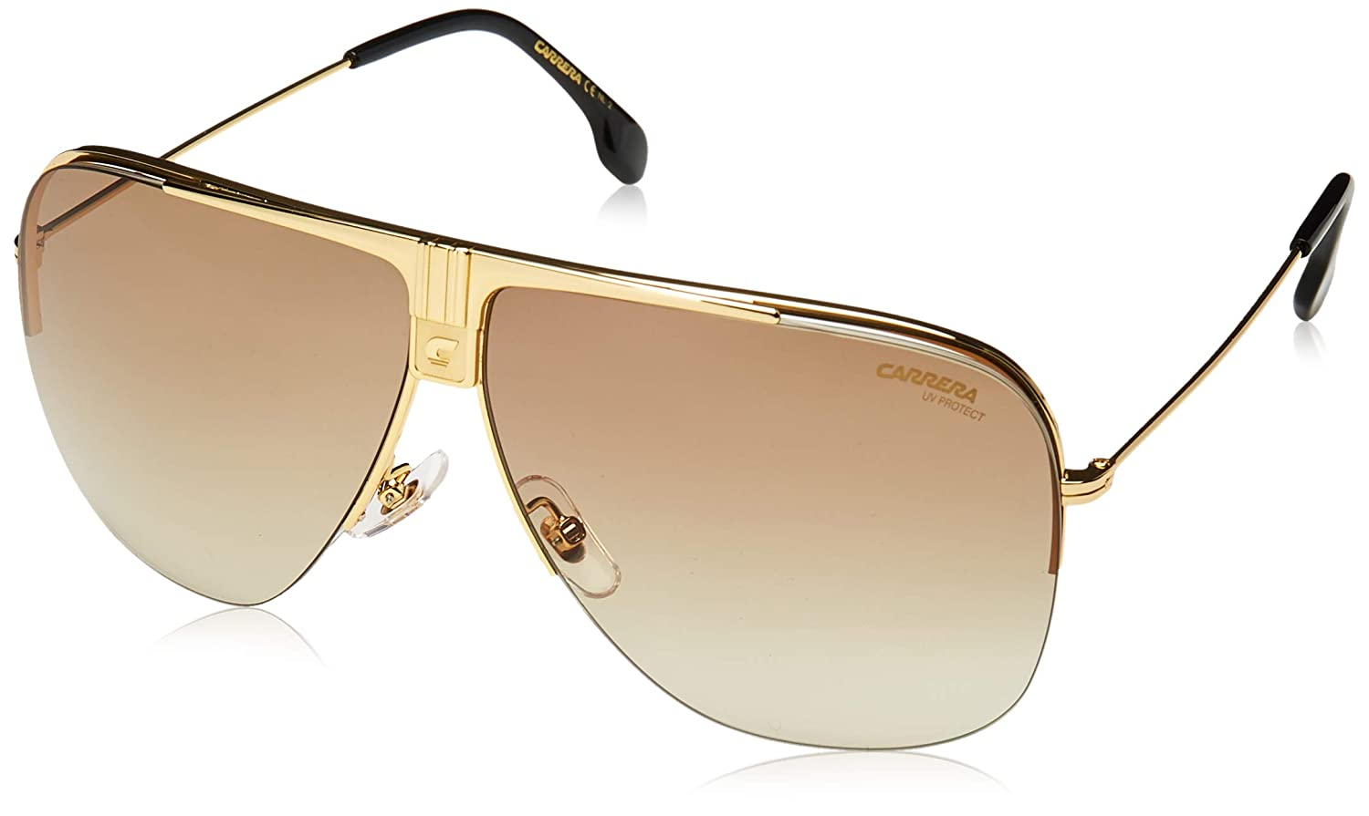 9a65788616 Amazon.com  Carrera CARRERA 1013 S 001 Yellow Gold CARRERA 1013 S Pilot  Sunglasses Lens Cat  Clothing