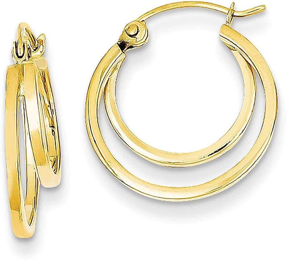 Lex /& Lu 14k Yellow Gold Double Hoop Earrings