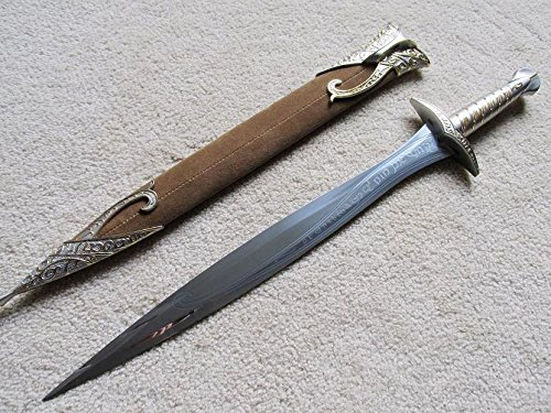 S0645 MOVIE LOTR  FRODO STING HOBBIT BILBO BAGGINS SWORD BROWN SHEATH 20 (Hobbit Weapon Replicas)