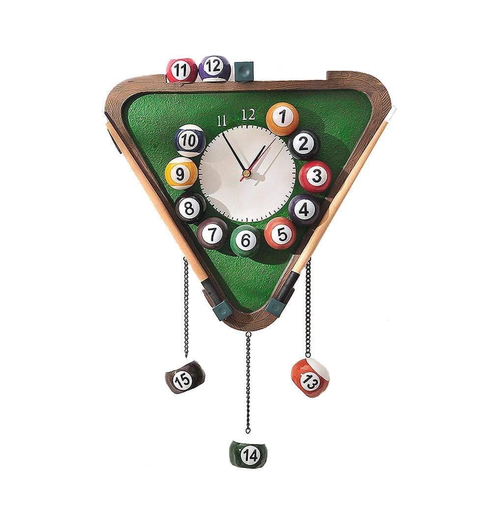 ZLZGZ Reloj De Pared Creativo, Números Arábigos, Reloj De Cuarzo, Resina, Sala De Estar Decorada, Cafetería (Estilo Billar): Amazon.es: Hogar