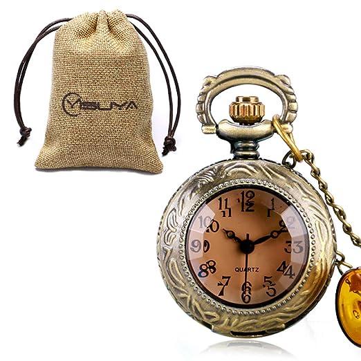 Alicia en el país de Las Maravillas Reloj de Bolsillo para niñas niños, Vintage Cuarzo Reloj de Bolsillo Set para Hombres Mujeres, Hijo Padre: Amazon.es: ...