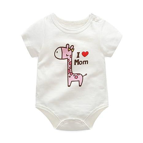Bebé Body Niños Niñas - Bebé Pijamas Unisex Peleles Algodón Mameluco Monos Manga Corta Trajes
