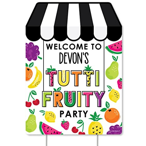 Amazon com: Big Dot of Happiness Custom Tutti Fruity - Party