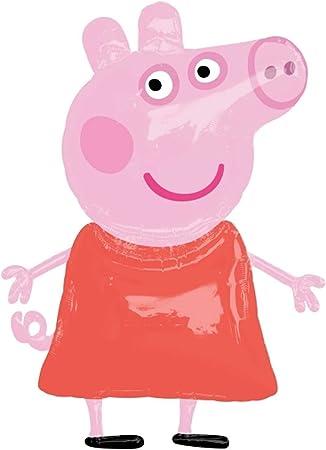 Amazon.com: Gigante 48 Peppa Pig – Balloon Anagram – Figura ...