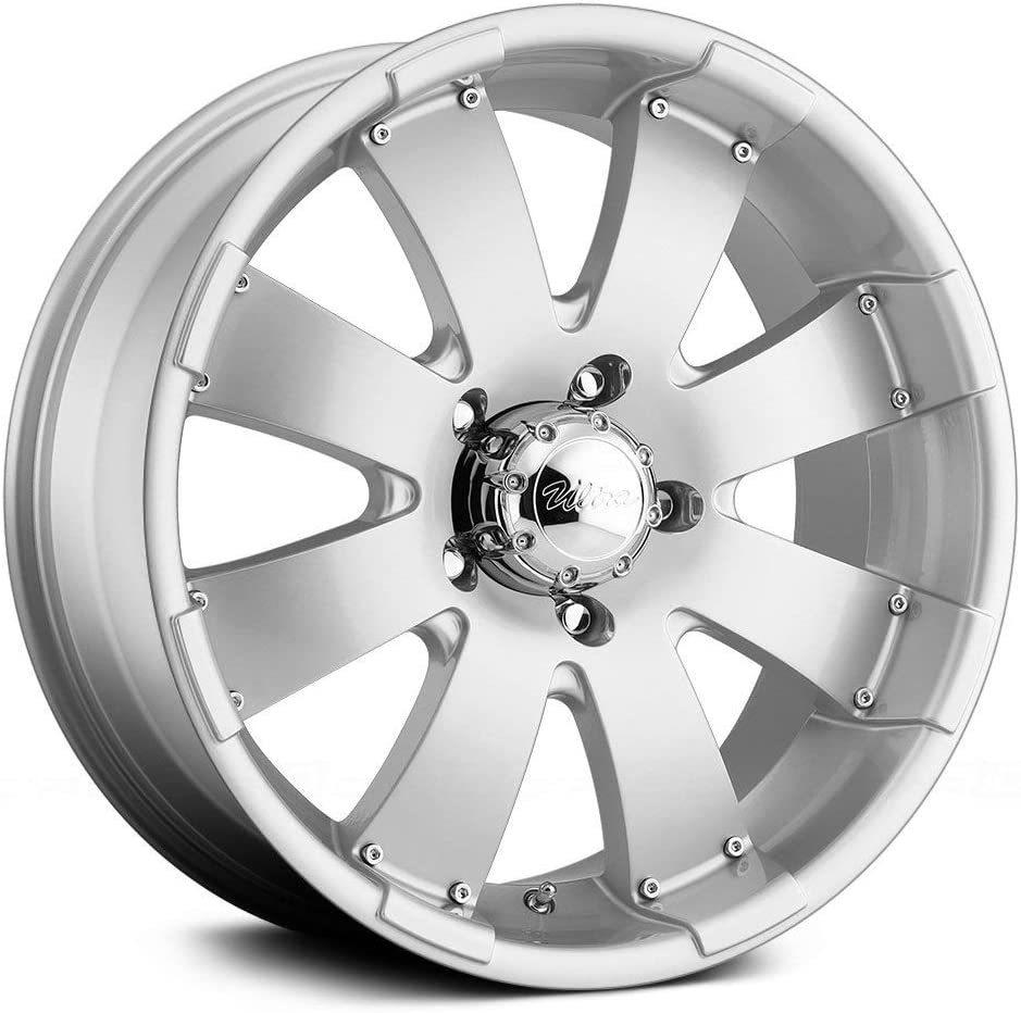Ultra Wheel 243S Mako Silver Wheel with Painted (17 x 8. inches /6 x 139 mm, 10 mm Offset)