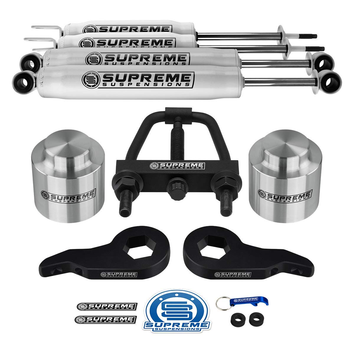 Supreme Suspensions - Complete 3 Inch Suspension Lift Kit with Shock  Absorbers for 2001-2006 Chevy Suburban/Tahoe and GMC Yukon 1500 PRO KIT