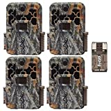 Four Browning Spec Ops Advantage 20MP Trail/Game Cameras with Color Display + Focus USB Card Reader