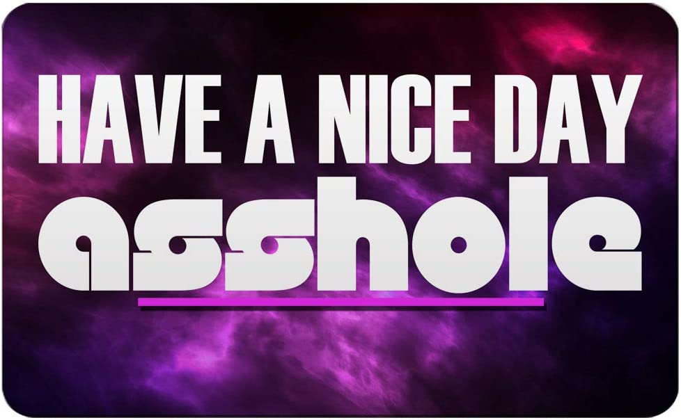 """Makoroni - HAVE A NICE DAY ASSHOLE Rectangle Magnet, 2""""x3"""" Refrigerator Magnet"""