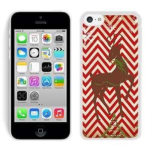 2014 Newest Iphone 5C TPU Case Chevron Iphone 5C TPU Case Christmas Deer White iPhone 5C Case 2