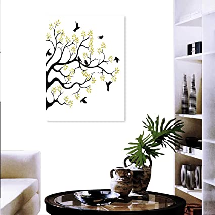 Amazon Com Anyangeight Birds Wall Paintings Flying Sitting Birds On