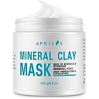 Aprilis - Masque d'argile minérale blanche, Nettoie les pores en profondeur, pour le visage et le corps, Atténue les taches sombres, Élimine les comédons et l'acné, Resserre les pores, Éclaircit la peau – 250 gr.