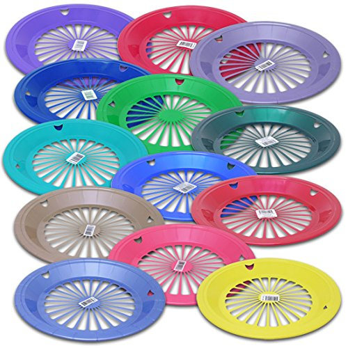 Reusable Plastic Holders Plates Colors