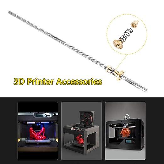 T8 Varilla Roscada Impresora 3D,400 mm Varilla Roscada Acero ...