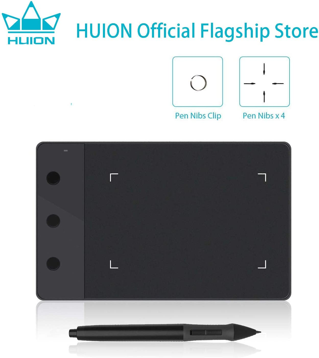 Huion 580 USB Digital Graphic Drawing Tablet 8 x 5 Inch for Art Drawing US Ship
