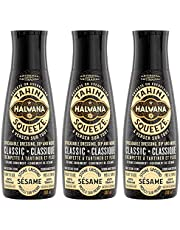 Halvana Tahini Squeeze | All Natural Squeeze on Everything Superfood | Ready to Use Spreadable Dressing, Dip & More | 100% Sesame Seeds | Keto | Vegan | Kosher