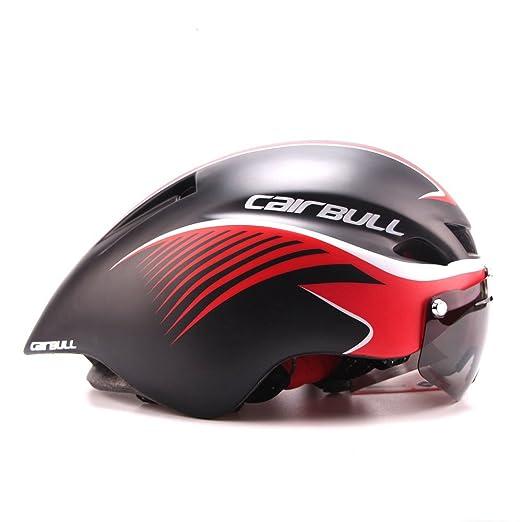 Casque Cairbull 2018 - Unisexe - Pour cyclisme, course à vélo - Avec  lunettes réglable de 56 à 61 cm - Noir M 2  Amazon.fr  Sports et Loisirs 3a629b7f5217