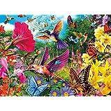 Buffalo Games Hummingbird Garden Jigsaw Puzzle from The Vivid Collection, 1000 Piece