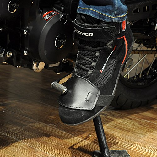 A.B Crew PU Leather Motorcycle Shoe Boot Cover Shifter Scuff Marks Protector Gear Apparel Accessories, Small