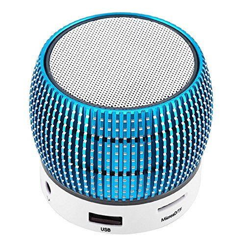 Bluetooth Speakers Wireless LED Light Mini Speaker Built-in Microphone Home Travel Outdoors Speaker for Android Samsung Galaxy Note 8 5 4 S9 S8 S7 S6 Edge iPhone Nexus iPad Tablets PC Blue by TopePop