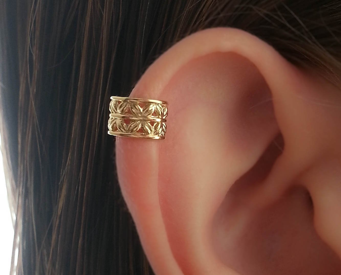 Ear Cuff Earring Helix Earcuff Gold Filled Wrap Non Piercing Fake Clip On