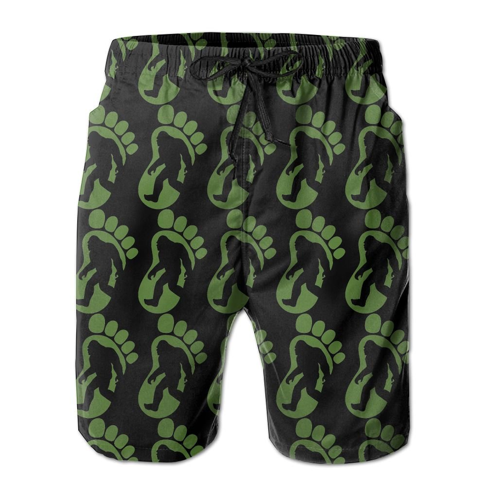 Bigfoot Footprint Men's Basic Boardshorts XXL With Pocket