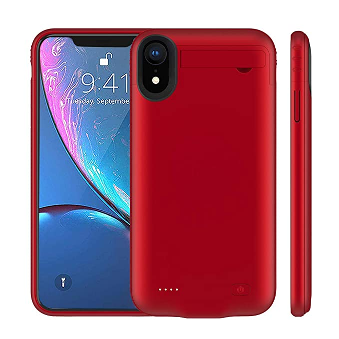 classic fit 75c86 b8edf iPhone XR Battery Case, MAXBEAR 4200mAh Portable Ultra Slim Rechargeable  Extended Battery Charger Case for Apple iPhone XR (6.1 inch) with Kickstand  ...
