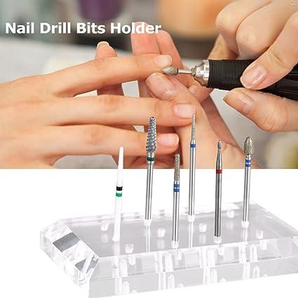 12 hoyos taladro de uñas titular almacenamiento exposición herramienta de molienda base de molienda herramienta