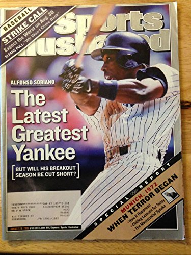 SPORTS ILLUSTRATED AUG 26, 2002 ALFONSO SORIANO YANKEES EX