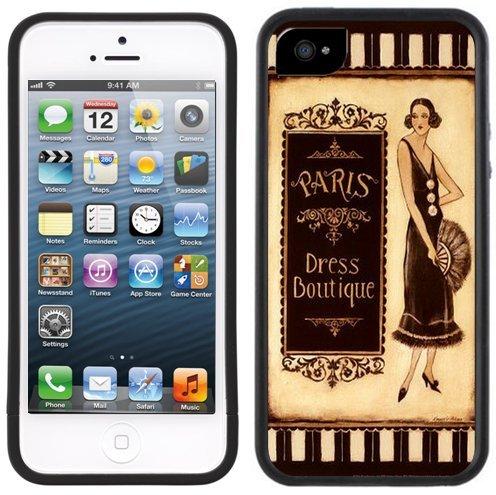 Paris Kleid Boutique | Handgefertigt | iPhone 5 5s | Schwarze Hülle
