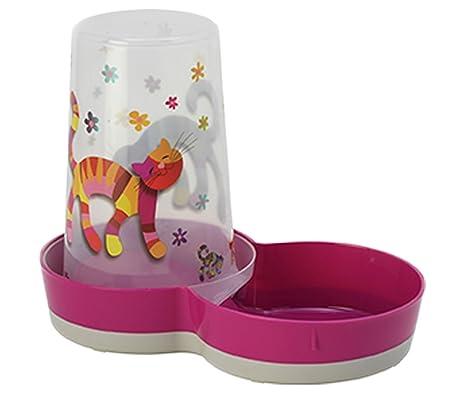 Comedero para gatos rosa, bebida y baño, cuencos para almacenamiento de aperitivos, colección