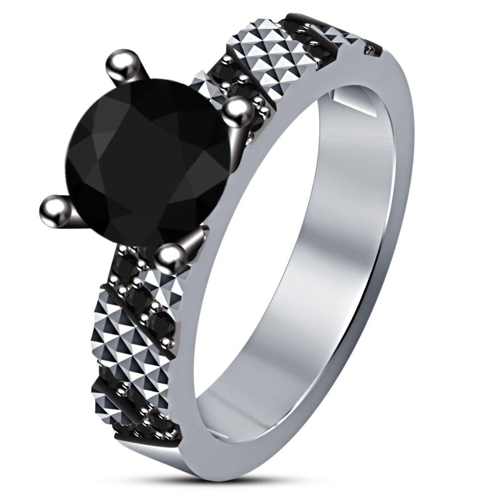 92ab3d4e4b82 Lilu Jewels - Juego de anillos de compromiso clásicos para mujer ...