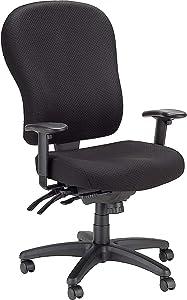 Tempur-Pedic Ergonomic Fabric Mid-Back Office Chair, Black, Fixed Arm (TP4000)