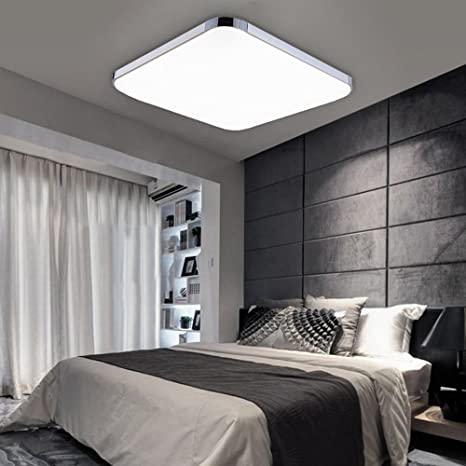 Fantastic Led Ceiling Lights Ultra Thin 12W Day White Modern Ceiling Lights Bright Square Lamp For Kitchen Office Living Room Bedroom Dining Room Download Free Architecture Designs Barepgrimeyleaguecom