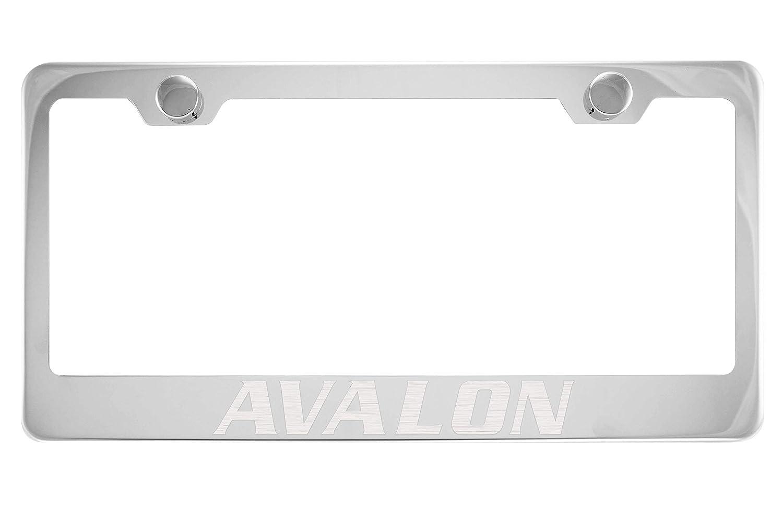 Toyota Avalon Chrome License Plate Frame with Cap
