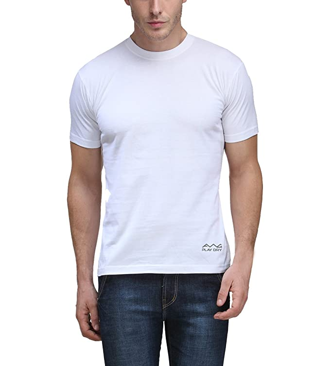 56a7a876f AWG - All Weather Gear Men s Polyester T-Shirt (Pack Of 3)  (Awgdft-Bl-Wh-Rb)  Amazon.in  Clothing   Accessories