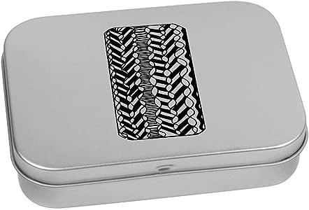 'Abstract Wiggly Pattern' Metal Hinged Tin / Storage Box (TT00131926)