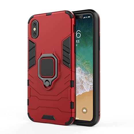 Amazon.com: Lrker Durable Versatile Armor iPhone X Case Ring ...