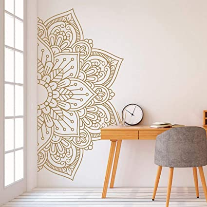 Mandala in Half Wall Sticker Home Decor Living Room ...
