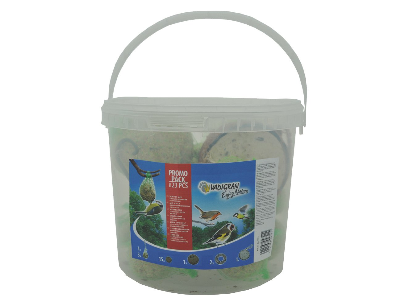 Vadigran Enjoy Nature Seau 4Mix 2, 7Kg