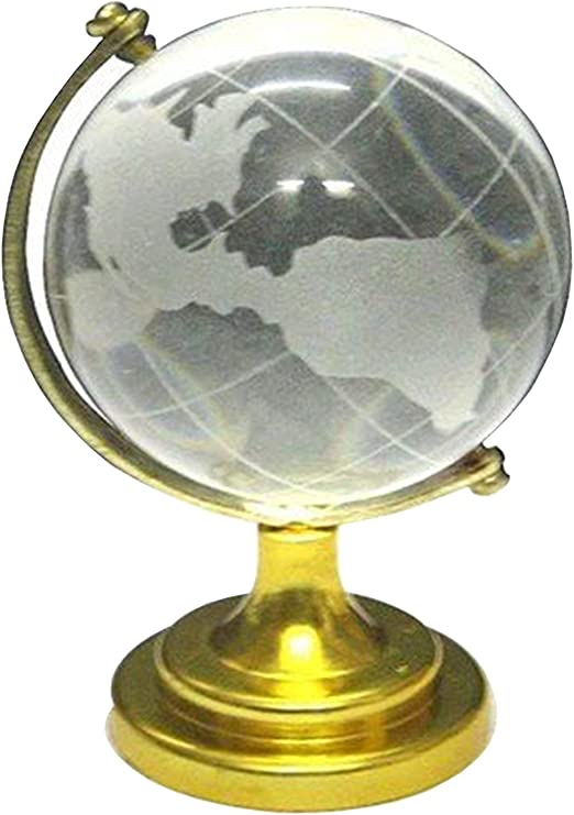 Amazon Com Rudradivine Vastu Feng Shui Crystal Globe 7 X 5 Cm For Career Success Financial Luck And Business Growth Vastu Remedy Table Desk Decor For Office And Home Home Kitchen